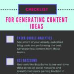 content ideas checklist