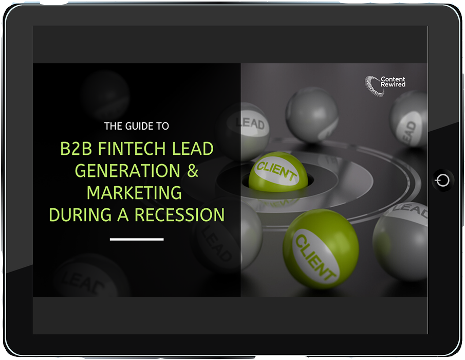 B2B Fintech Lead Generation & Marketing During a Recession image